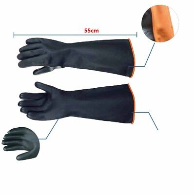 Long Latex Gloves Industrial Chemical Acidproof Work Rubber Glove Hand