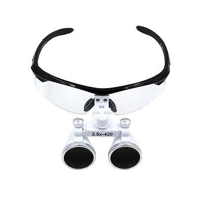 Dental Binocular Loupe 3.5x Magnifer 420mm Magnifying Glasses Dental Loupes