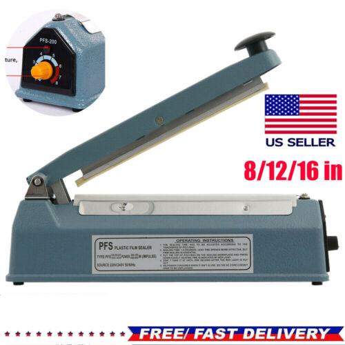"12""/16""Heat Sealer Manual Sealing Machine Shrink Wrap Poly Tubing Plastic Bag"