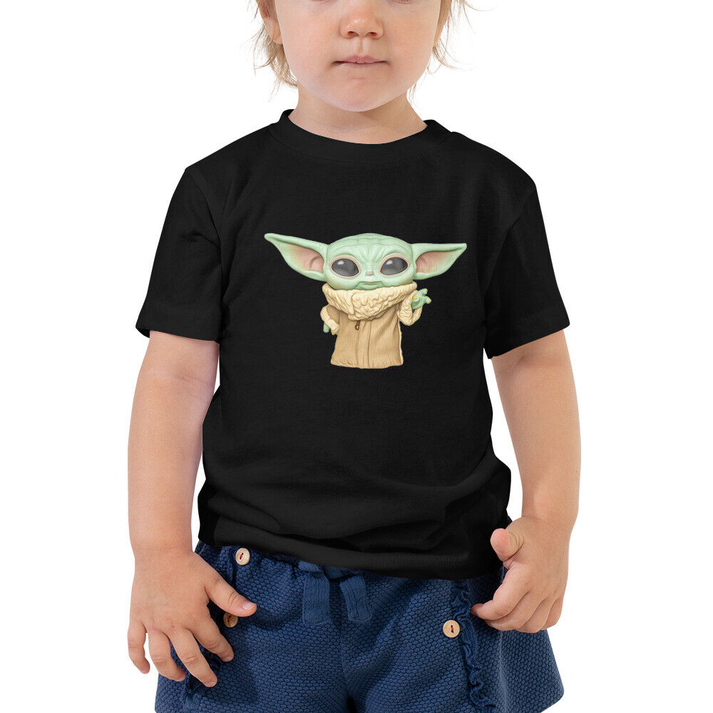 The Force Is Strong Cute Funny Yoda Star Wars Baby Kids Green Toddler T-Shirt