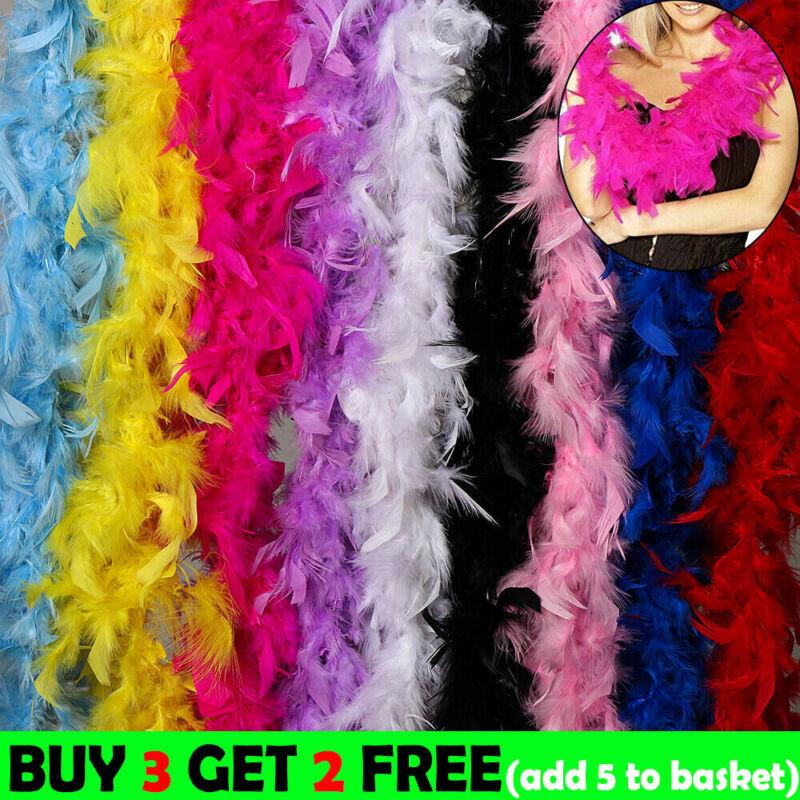 New Soft Feather Boa Strip Fluffy Craft Costume Fancy Dress Wedding  Party Decor