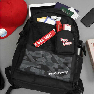 BTS Official Authentic Goods MD MIC Drop Smart Backpack Pattern Ver + Tracking#