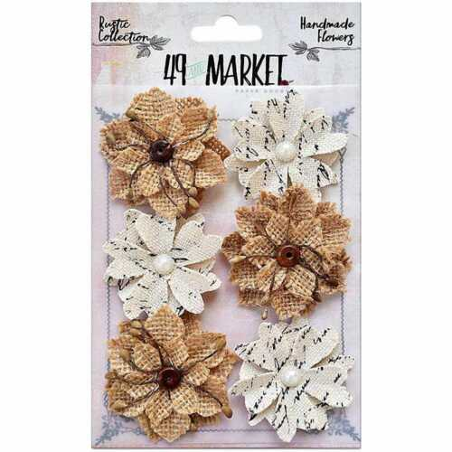 49 and Market RUSTIC COLLECTION Medium Blooms 6 pieces #RB-84345