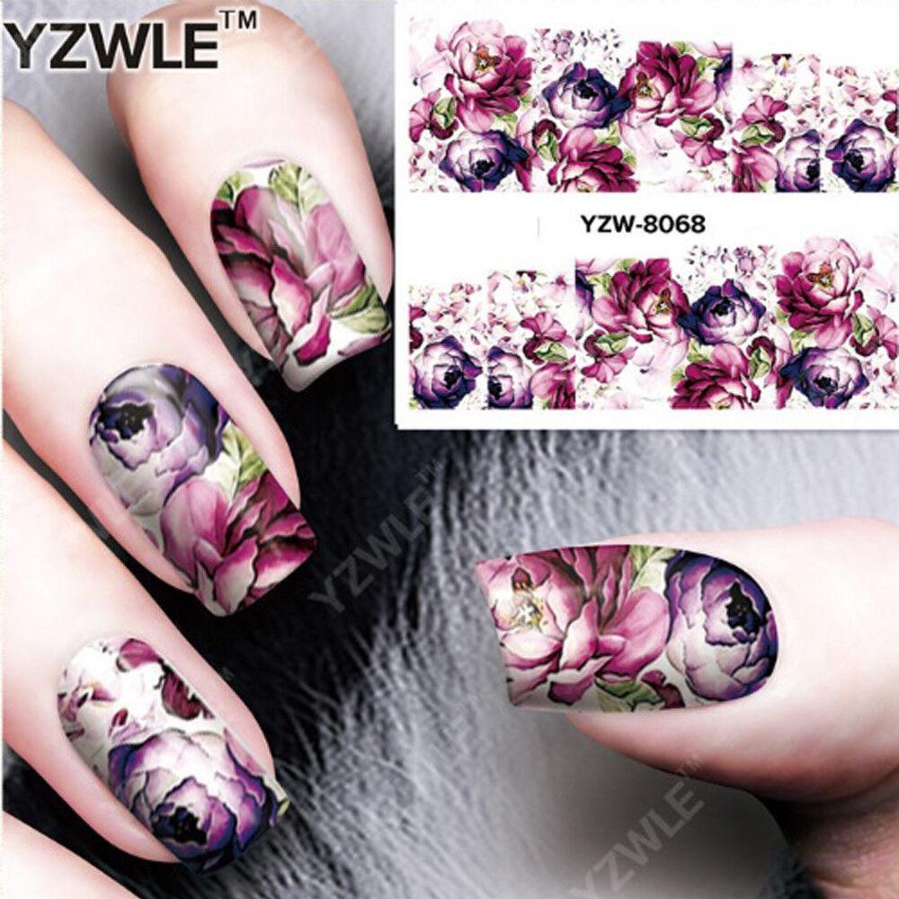 Nail Art Nagel Sticker * Wasser Transfer Tattoo * Rosen Blumen A068