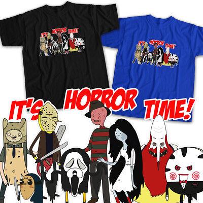 Adventure Time Horror Movie Monsters Halloween Fun Crossover Unisex Tee T-Shirt