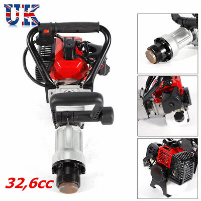 2Stroke 32.6CC T-Post  Petrol Pile Rammer Driver Fence Post Farm Fencing Tool UK