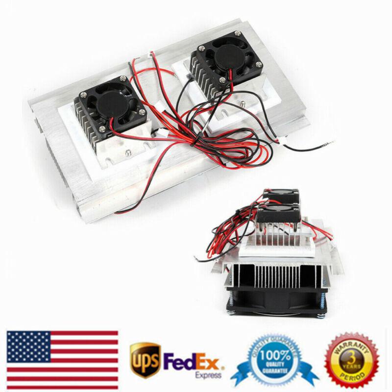 12V 140W Semiconductor Refrigeration Cooler DIY Peltier Module Cooling Fan Kit