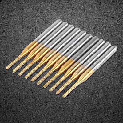 1.5mm Cutting 10pcs Milling Cutter Edge End Cnc Pcb Engraving Bit Tungsten 18