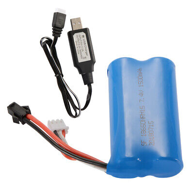 7.4V 1500mAh Rechargeable Battery+ Charger Cable for Syma Q1 Skytech H101 BC744