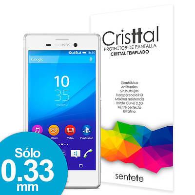 Sentete® Sony Xperia M4 Aqua Protector de Pantalla de Cristal Templado PREMIUM
