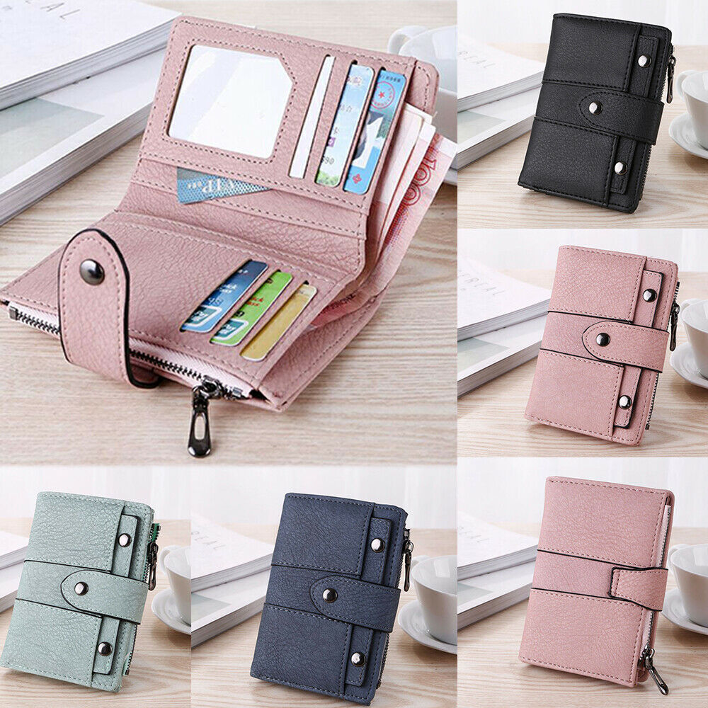 Leather Wallet for Women Ladies Credit Card Holder Small Pur