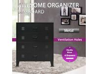 Chest of Drawers Metal Industrial Style 78x40x93 cm Black-245963