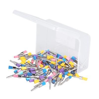 100pcs Nylon Polishing Dental Brush Latch Flat Prophy Brush For Dental Lab F4q2