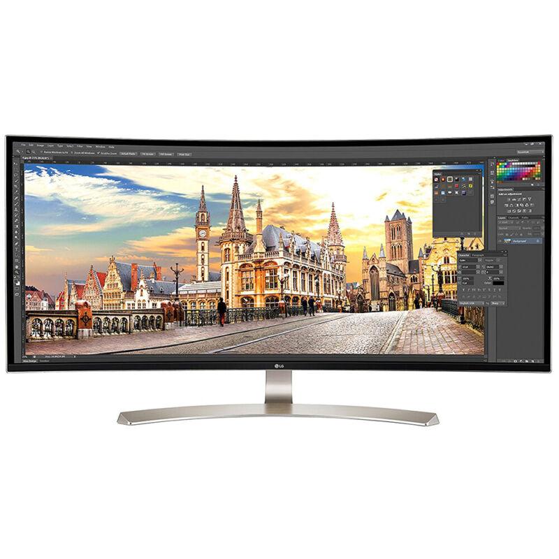 "LG 38UC99-W 38"" IPS LED Curved HD 21:9 UltraWide FreeSync Monitor Black/white 38UC99-W"