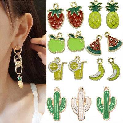 Fruit Craft (5/50X Fruit Pendants Charms Pendant For DIY Necklace Jewelry Making Hand)
