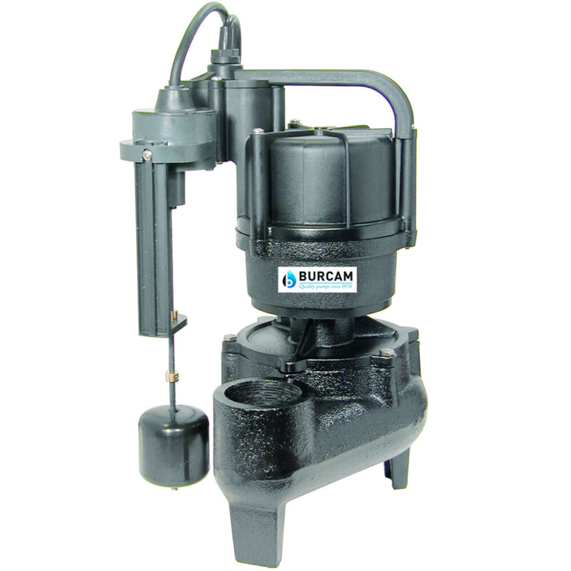 Burcam Pumps  1/2 HP Heavy Duty Replacement Sewage Pump For Easy Flush System...