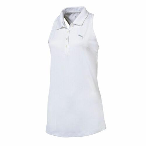 NWT Puma Golf Ladies/Womens Racerback Golf Polo Bright White S M L XL Tennis