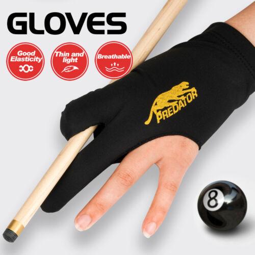 PREDATOR Billiard Pool Gloves 10pcs Left Hand Lycra Fabric Black Billiard Access
