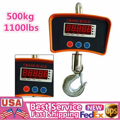 500kg1100lb Digital Crane Scale Heavy Duty Industrial Hanging Scale Lcd-display