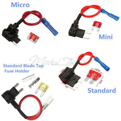 12V10A ACS A Add Circuit Fuse  Micro/Mini/Standard TAP Adapter Blade Fuse Holder 10a Mini Blade Fuse