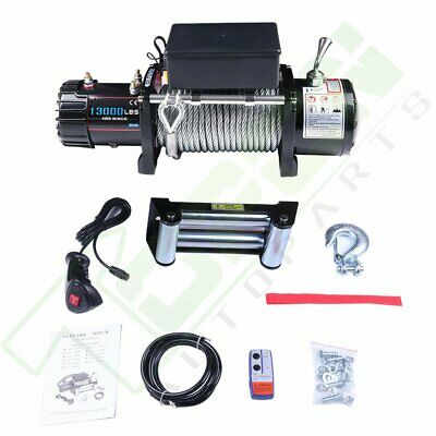 12V Off-road Electric Winch 13000LBS Pull w/ 85ft Cable for Jeep Truck SUV Car