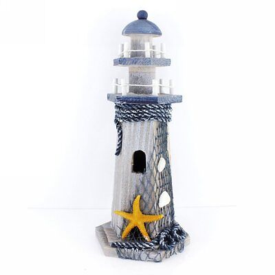 Starfish Wooden Lighthouse Nautical Themed Rooms Lighthouse Home Decor 10