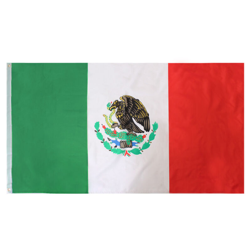 GIANT MEXICO FLAG 5FT X 3FT MEXICAN BANNER COUNTRY NATIONAL FLAGS SPORTS EVENT