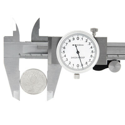 0-6 Inch Stainless Steel 4-way Measurement Dial Caliper 0.02mm Shock Proof Usa