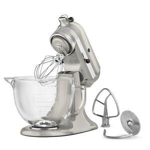 Kitchenaid-KSM155GBSR-5Quart-Tilt-Head-Stand-Mixer-Glass-Bowl