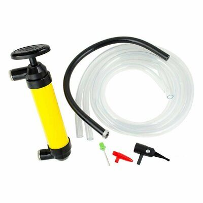 HT MULTI-USE HAND PUMP Leak-Free Quick Connect TRANSFER OIL LIQUIDS Siphon Gas