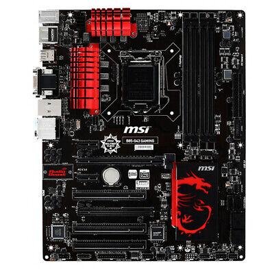 MSI B85-G43 GAMING Intel B85 Motherboard LGA 1150 DDR3 VGA DVI HDMI USB 3.0 ATX