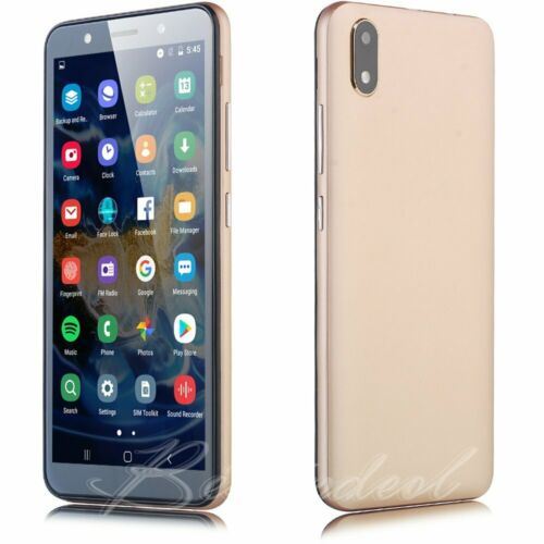 """Android Phone - Unlocked Cheap Android 8.1 Mobile Smart Phone Quad Core Dual SIM  5.5"""" Touch New"""