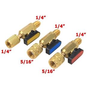 HVAC Tools Gauges 3 Color R410A Valves Refrigerant Adapter AC Charg Hoses Brass