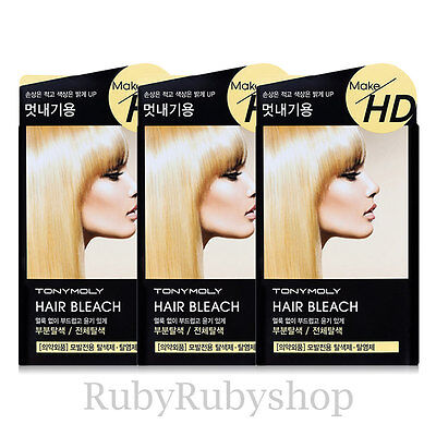 [TONYMOLY] Make HD Hair Bleach // 3PCS [RUBYRUBYSTORE]
