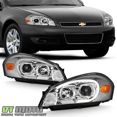2006-2013 Chevy Impala LED Tube Projector Headlights Headlamps Left+Right 06-13