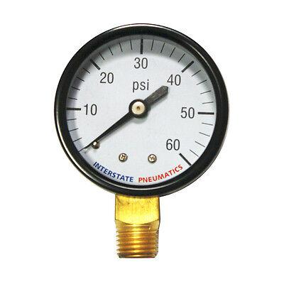 Pressure Gauge 60 Psi 2 Diameter 14 Npt Bottom Mount  G2012-060
