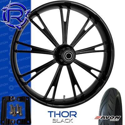 Rotation Thor Gloss Black Motorcycle Wheel Kawasaki Vaquero Vulcan Package 21