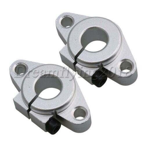 2PCS Aluminum 12mm SHF12 Linear Rod Rail Support Guide Shaft Bearing CNC Route