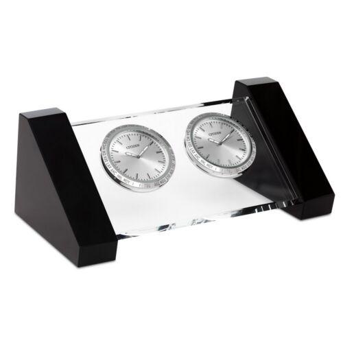 Citizen Brushed Metal Desk Clock