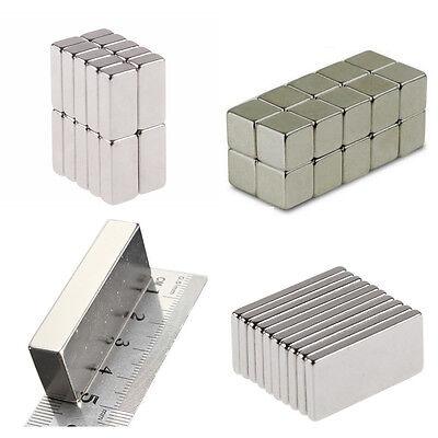 - 50 100 Pcs Magnets Block Cube Rare Earth Neodymium Magnet N50 N48 N52 ALL Size