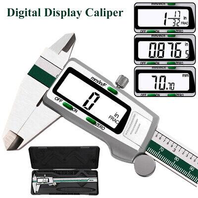 6 150mm Digital Vernier Caliper Micrometer Metric Measure Tool Gauge Ruler