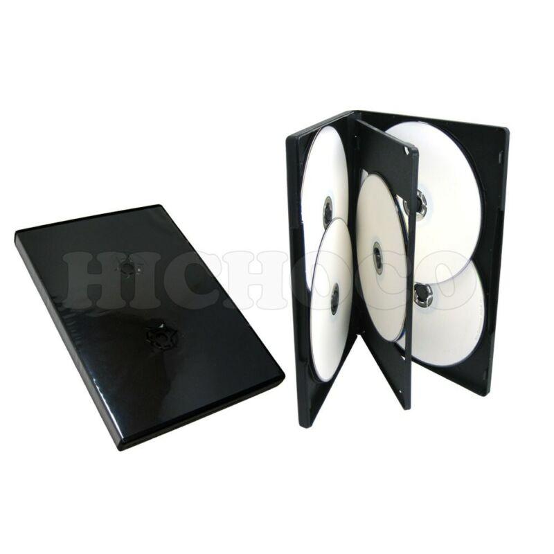 25 Standard 14mm Multi Hold 6 Disc Six CD DVD Black Case Movie Box Wholesale