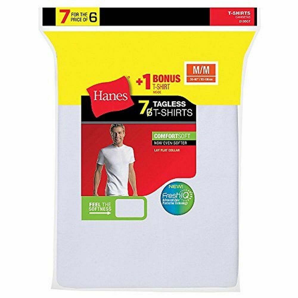 Hanes Men's FreshIQ ComfortSoft Crewneck Undershirt 7-Pack