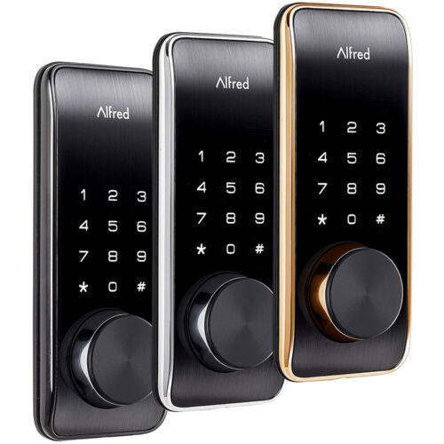 Alfred DB2-B Smart Touchscreen Door Lock with Bluetooth & Key Entry