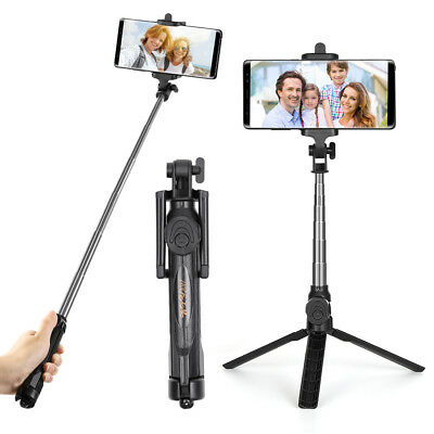 Extendable Selfie Stick Bluetooth Remote Shutter with Tripod For iPhone...