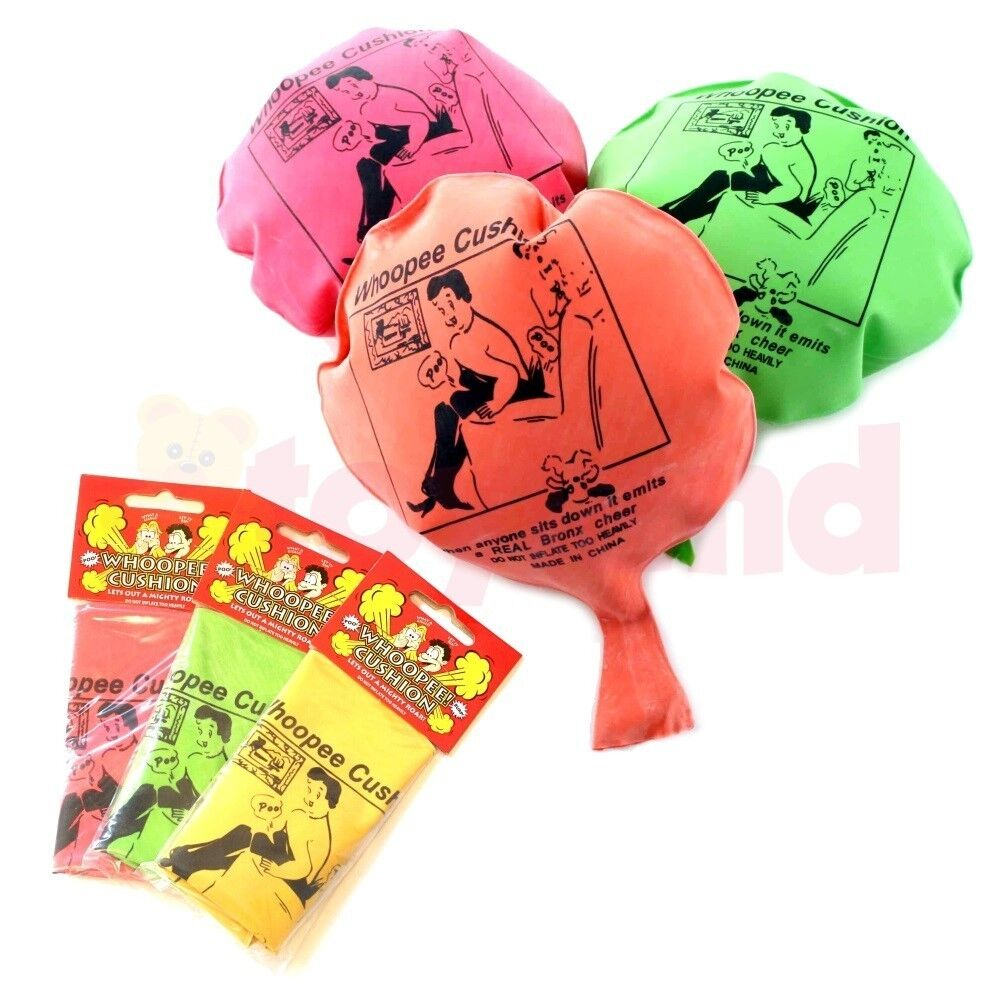 2 6 12 24 WHOOPEE CUSHION FART TOYS BOYS GIRL GIFT FAVOUR LOOT PARTY BAG FILLERS