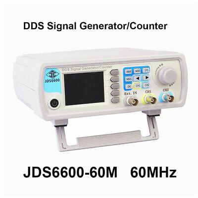 Jds6600 60mhz Signal Generator Dual Channel Dds Function Waveform 2.4 Display