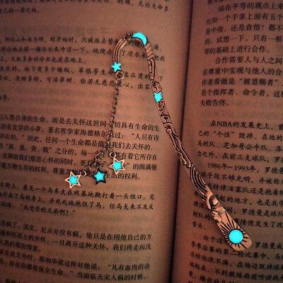 Retro Luminous Metal Animal Bookmark Glowing Night Light Book Note Label Gift