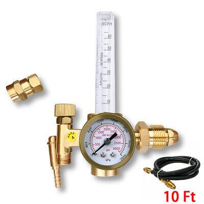 Htp Argon Co2 Mig Tig Flow Meter Regulator Welding Weld Gauge Gas Welder W Hose