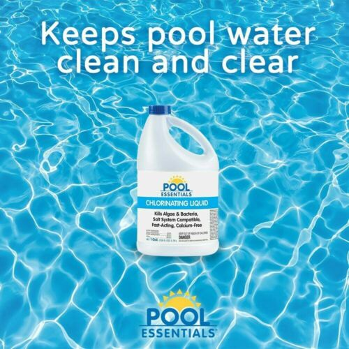 Pool Essentials Chlorinating Liquid for Swimming Pools, 1 Gallon